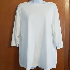 NWOT Westbound Woman 1X boatneck 3/4 sleeve top